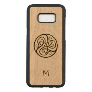 Capa Carved Para Samsung Galaxy S8+ Caixa de madeira da galáxia S8 do nó celta do