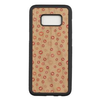 Capa Carved Para Samsung Galaxy S8 Caixa magro da madeira da cereja da galáxia S8 de