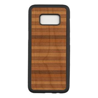 Capa Carved Para Samsung Galaxy S8 Caixa magro de madeira da madeira da cereja da