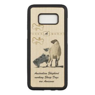 Capa Carved Para Samsung Galaxy S8 Cão de carneiros australiano do pastor