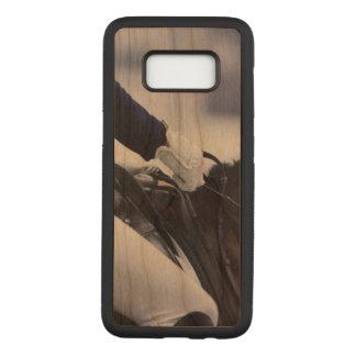 Capa Carved Para Samsung Galaxy S8 Cavaleiro do adestramento, madeira da cereja
