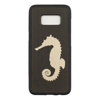 Capa Carved Para Samsung Galaxy S8 Cavalos marinhos na silhueta