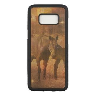 Capa Carved Para Samsung Galaxy S8 Cavalos ocidentais que pastam