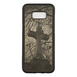 Capa Carved Para Samsung Galaxy S8+ Cena temperamental do headstone da cruz do