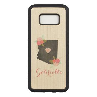 Capa Carved Para Samsung Galaxy S8 Cidade móvel do coração do estado de madeira da