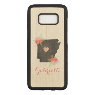 Capa Carved Para Samsung Galaxy S8 Cidade móvel do coração do estado de madeira de