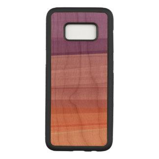 Capa Carved Para Samsung Galaxy S8 Colora a caixa magro da madeira da cereja da
