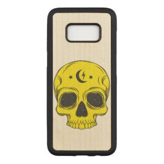 Capa Carved Para Samsung Galaxy S8 Crânio artístico (amarelo)
