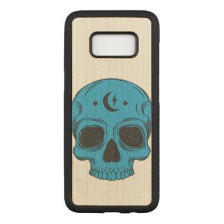 Capa Carved Para Samsung Galaxy S8 Crânio artístico (azul)