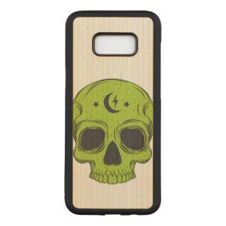 Capa Carved Para Samsung Galaxy S8+ Crânio artístico (verde)