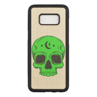 Capa Carved Para Samsung Galaxy S8 Crânio artístico (verde)
