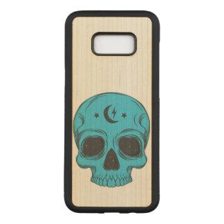 Capa Carved Para Samsung Galaxy S8+ Crânio clássico artístico (azul)