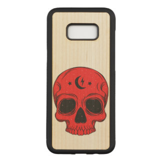 Capa Carved Para Samsung Galaxy S8+ Crânio clássico artístico (vermelho)