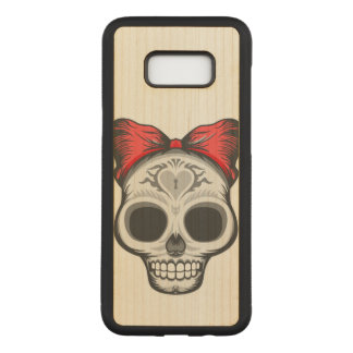 Capa Carved Para Samsung Galaxy S8+ Crânio do açúcar (arco vermelho)