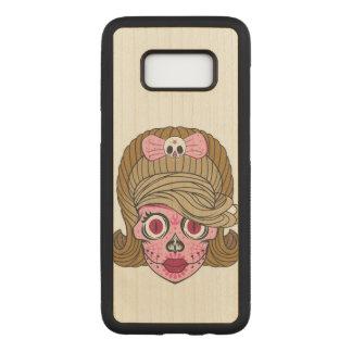 Capa Carved Para Samsung Galaxy S8 Crânio feminino do açúcar