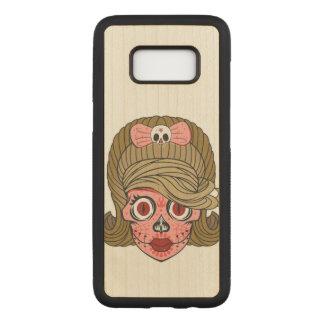 Capa Carved Para Samsung Galaxy S8 Crânio feminino super do açúcar