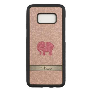 Capa Carved Para Samsung Galaxy S8 Damasco adorble bonito cor-de-rosa do elefante