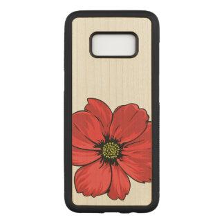 Capa Carved Para Samsung Galaxy S8 Design artístico da flor