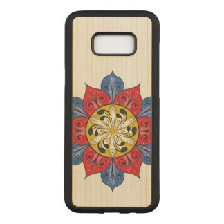 Capa Carved Para Samsung Galaxy S8+ Design floral abstrato