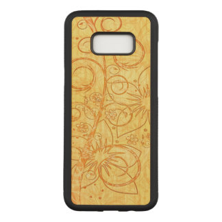 Capa Carved Para Samsung Galaxy S8+ Design floral legal