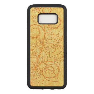 Capa Carved Para Samsung Galaxy S8 Design floral legal