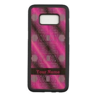 Capa Carved Para Samsung Galaxy S8 Design roxo cor-de-rosa do abstrato do preto