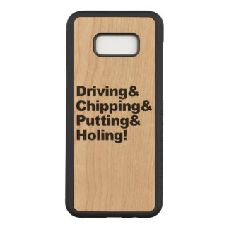 Capa Carved Para Samsung Galaxy S8+ Driving&Chipping&Putting&Holing (preto)