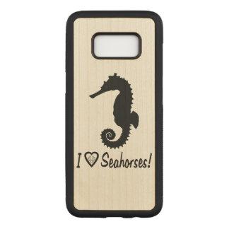Capa Carved Para Samsung Galaxy S8 Eu amo cavalos marinhos