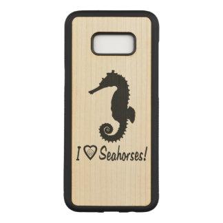 Capa Carved Para Samsung Galaxy S8+ Eu amo cavalos marinhos