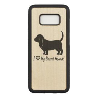Capa Carved Para Samsung Galaxy S8 Eu amo meu Basset Hound com impressões da pata