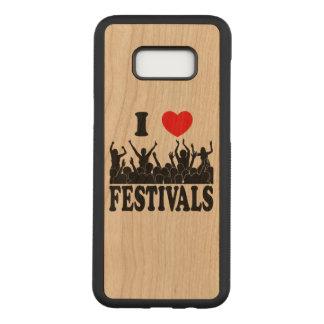 Capa Carved Para Samsung Galaxy S8+ Eu amo os festivais (o preto)
