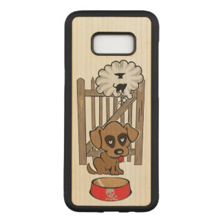 Capa Carved Para Samsung Galaxy S8+ Filhote de cachorro Daydreaming