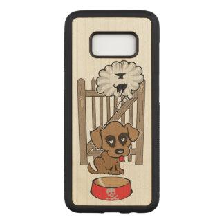 Capa Carved Para Samsung Galaxy S8 Filhote de cachorro Daydreaming
