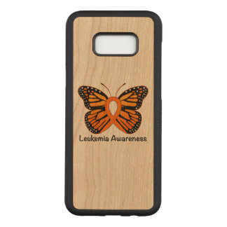 Capa Carved Para Samsung Galaxy S8+ Fita da consciência da borboleta da leucemia