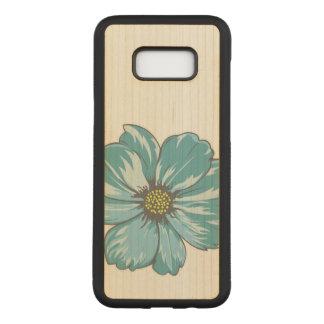 Capa Carved Para Samsung Galaxy S8+ Flor abstrata azulada