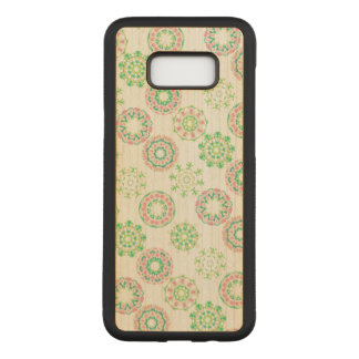 Capa Carved Para Samsung Galaxy S8+ Folha de ouro cor-de-rosa tropical do hibiscus da