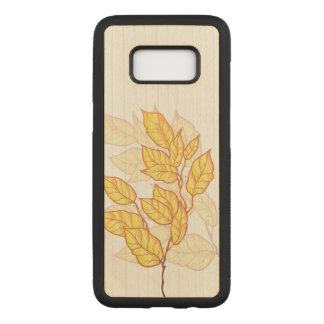 Capa Carved Para Samsung Galaxy S8 Folhagem de outono artístico