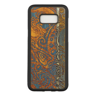 Capa Carved Para Samsung Galaxy S8+ Folhosa azul do bordo do redemoinho de Jean de