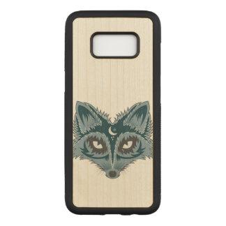 Capa Carved Para Samsung Galaxy S8 Fox artístico (azul)