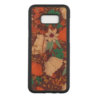 Capa Carved Para Samsung Galaxy S8+ Galáxia floral S8 de Samsung+ Caixa magro da