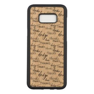 Capa Carved Para Samsung Galaxy S8+ Galáxia S8 de Samsung+ Caixa magro da madeira da