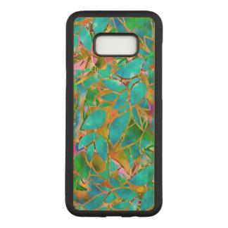 Capa Carved Para Samsung Galaxy S8+ Galáxia S8 de Samsung+ Vitral floral do caso de