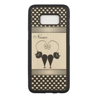 Capa Carved Para Samsung Galaxy S8 Gato adorável do cuite nas bolinhas do amor