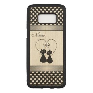 Capa Carved Para Samsung Galaxy S8 Gatos bonitos engraçados nas bolinhas do amor