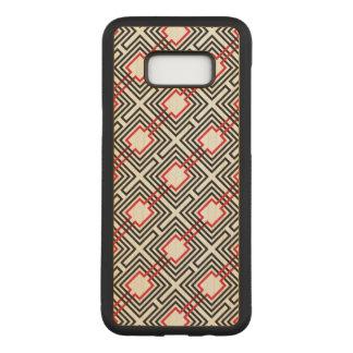 Capa Carved Para Samsung Galaxy S8+ Geométrico vermelho & branco preto