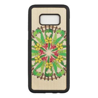 Capa Carved Para Samsung Galaxy S8 Ilustração abstrata do jardim
