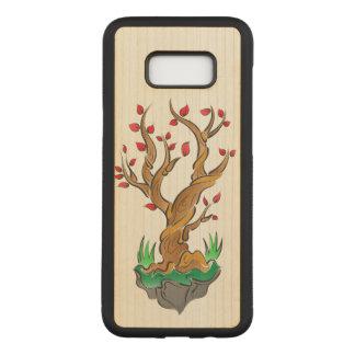 Capa Carved Para Samsung Galaxy S8+ Ilustração artística da árvore