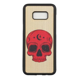 Capa Carved Para Samsung Galaxy S8+ Ilustração artística do crânio
