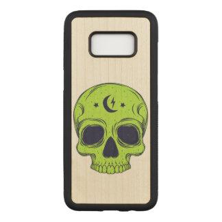 Capa Carved Para Samsung Galaxy S8 Ilustração artística do crânio