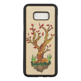 Capa Carved Para Samsung Galaxy S8+ Ilustração colorida da árvore